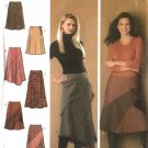 Simplicity Sewing Pattern 4966 Misses Size 14-16-18-20-22 Flared Asymmetrical Seamed Skirts