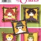 "Simplicity Sewing Pattern 4970 Crafts Appliquéd 14"" Pillows"