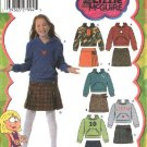 Simplicity Sewing Pattern 4972  Girls' Plus Size 8 1/2 -16 1/2  Pleated Skirt Knit Hooded Top Hoodie