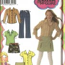 Simplicity Sewing Pattern 4977 Girls Size 8-16 Pants Shorts Skort Knit Top Shirt Blouse
