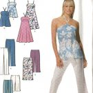 Simplicity Sewing Pattern 4999 Misses Size 4-6-8-10 Summer Cropped Pants Dress Halter Top Shorts
