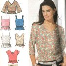 Simplicity Sewing Pattern 5002 Misses Size 12-14-16-18 Summer Pullover Tops