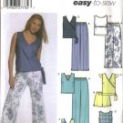 Simplicity Sewing Pattern 5067 Misses Size 6-8-10-12 Easy Summer Wardrobe Pants Shorts Tops