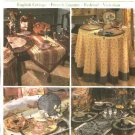 Simplicity Sewing Pattern 5068 Tablecloth Table Runner Place Mats Tea Egg Cozy Muffin Server