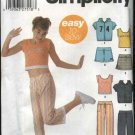 Simplicity Sewing Pattern 5177 Girls Size12-16 Easy Wardrobe Knit Top Jacket Shorts Pants Skort
