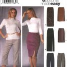 Simplicity Sewing Pattern 5259 Misses Size 16-18-20-22 Easy Classic Slim Pants Straight Skirts