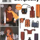 Simplicity Sewing Pattern 5285 Girls Boys Childs Size 3-16 Easy Fleece  Vest Hat Scarf Hood Bag