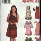 Simplicity Sewing Pattern 5287 Girls Size 12-16 Long Short Sleeve Raised Waist Dresses Purse