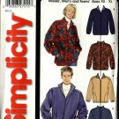 "Simplicity Sewing Pattern 5387 Misses Mens Unisex Chest Size 30 - 48"" Zipper Front Jackets"