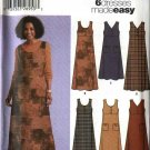 Simplicity Sewing Pattern 5454 Misses Size 8-10-12-14 Easy Long Short Flared Dress Jumpers