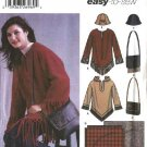 Simplicity Sewing Pattern 5465 Misses Size 6-16 Easy Pullover Hooded Top Bag Hat Blanket