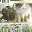 Simplicity Sewing Pattern 5467 Five Table Covers Runner Round Tablecloth Square Topper