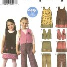 Simplicity Sewing Pattern 5489 Girls Size 3-8 Easy Classic Jumper Vest Skirt Pants YoYo Trim
