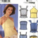 Simplicity Sewing Pattern 5500 Misses Size 12-18 Easy Summer Tops Halter Strapless Camisole