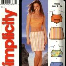 Simplicity Sewing Pattern 5506 Misses Size 4-14 Easy Mini-Skirts Halter Summer Tops