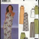 Simplicity Sewing Pattern 5507 Misses Size 6-12 Wardrobe Long Halter Dress Top Pants Shorts Skirt