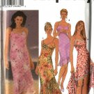 Simplicity Sewing Pattern 5559 Misses Size 6-12 Slip Dress Asymmetrical Hemline Shawl Sundress