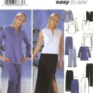 Simplicity Sewing Pattern 5568 Misses Size 10-18 Easy Wardrobe Pants Skirt Tunic Caftan Top