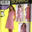 Simplicity Sewing Pattern 5592 Misses Size 16-18-20-22 Easy Pullover Slip Long Short Dress Shawl
