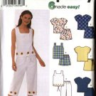 Simplicity Sewing Pattern 5613 Misses Size 6-12 Easy Summer Wardrobe Tops Pants Shorts Skorts