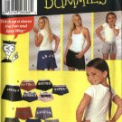 "Simplicity Sewing Pattern 5729 Girls Misses Waist 20 1/2"" - 39"" Easy Shorts Alphabet Appliques"