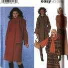 Simplicity Sewing Pattern 5790 Misses Size 12-20 Easy Winter Lined Button Front Hooded Coat Scarf