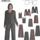 Simplicity Sewing Pattern 5792 Misses Size 12-20 Easy Wardrobe Bias Skirts Jacket Pants Vest