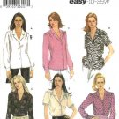 Simplicity Sewing Pattern 5801 Misses Size 16-24 Easy Classic Long Short Sleeved Blouses Shirts Top