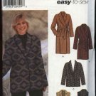 Simplicity Sewing Pattern 5855 Misses Size 4-12 Easy Long Short Coat Jacket Vest