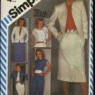 Simplicity Sewing Pattern 6272 Misses Size 12 Wardrobe Skirt Pants Jacket Top