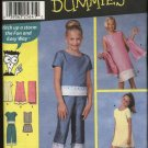 Simplicity Sewing Pattern 7118 Girls Size 12-16 Easy Pullover Dress Top Shorts Cropped Pants Shawl