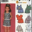 Simplicity Sewing Pattern 7133 Girls Size 3-8 Easy Pull on Shorts Pants Pullover Summer Halter Tops
