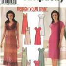 Simplicity Sewing Pattern 7156 Misses Size 6-12 A-line Raised Waist Summer Sleeveless Dresses