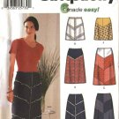 Simplicity Sewing Pattern 7179 Misses Size 12-18 Easy Color Blocked A-Line Short Long Skirts