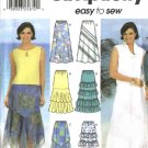 Simplicity Sewing Pattern 7227 Misses Size 12-18 Easy A-Line Pull-on Skirts Tiered Ruffled