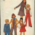 Retro Simplicity Sewing Pattern 7606 Girls Size 7 Jacket Vest Pants Skirt