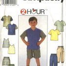 Simplicity Sewing Pattern 7990 Boys Size 5-8 Wardrobe Long Pants Shorts Knit Short Sleeve Tank Top