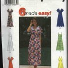 Simplicity Sewing Pattern 8123 Misses Size 6-8-10 Easy Raised Waist Halter Sleeveless Summer Dress