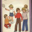 Simplicity Sewing Pattern 8213 Boys Girls Childs Size 4 Pull on Long Pants Short Pullover T-shirt