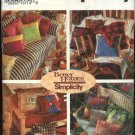 Simplicity Sewing Pattern 8261 Pillows Cushions Patchwork