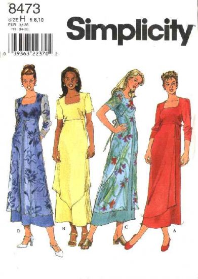 Simplicity Sewing Pattern 8473 Misses Size 6-8-10 Pullover Dress Sheer Overlay