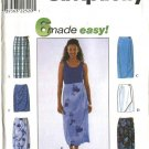 Simplicity Sewing Pattern 8527 Misses Size 6-8-10 Easy Front Wrap Straight Short Long Skirt