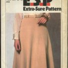 Retro Simplicity Sewing Pattern 8536 Misses Size 12-14-16 Easy Pull On Gored Knit Skirt Belt