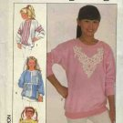 Simplicity Sewing Pattern 8935 Girls size 8-10 Decorated Knit Sweatshirts