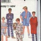 Simplicity Sewing Pattern 8968 8794 Boys Size 7-10 Easy Pajamas Robe Shirt Pants Shorts