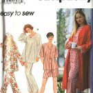 Simplicity Sewing Pattern 9250 Misses Size 6-16 Easy Sleepwear Pajamas Robe Top Pants Shorts