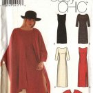 Simplicity Sewing Pattern 9324 Misses Size 6-12 Easy Long short Straight Dress Wrap Poncho