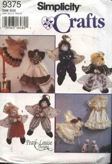 Simplicity Sewing Pattern 9375 Stuffed Angel Crafts Christmas Holiday