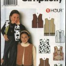 Simplicity Sewing Pattern 9460 Girls Size 7-14 1 Hour Vest
