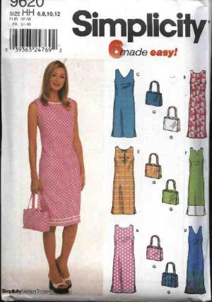 Simplicity Sewing Pattern 9620 Misses Size 6-12 Easy Sleeveless ...